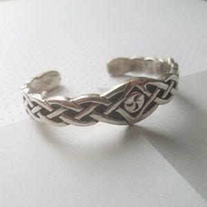 Celtic Knot Sterling Silver Cuff Bracelet